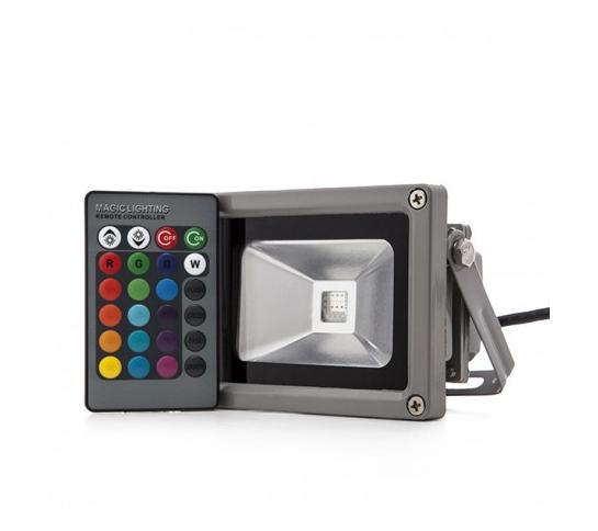 FOCO PROYECTOR PARA EXTERIOR RGB 10W