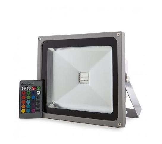 FOCO PROYECTOR PARA EXTERIOR RGB 20W