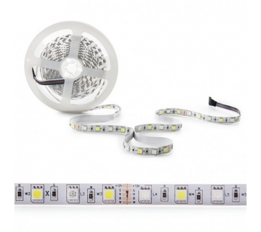 TIRA LED 5M RGB + BLANCO  360LEDS  SMD5050 INTERIOR