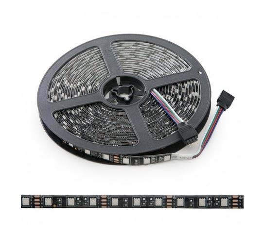 TIRA LED 5M RGB 300LEDS  SMD5050  EXTERIOR NEGRA