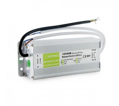 TRANSFORMADOR PARA EXTERIOR 80W PARA TIRAS DE LEDS