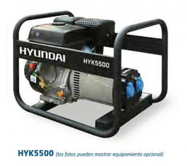 GENERADOR GASOLINA HYK55000 SERIE RENTAL