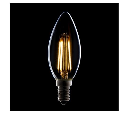 LÁMPARA VELA FILAMENTO LED DIMABLE E14 4W 380Lm