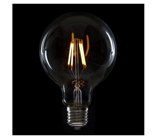 BOMBILLA LED FILAMENTO VINTAGE G95  E27 4W 400Lm