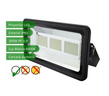 PROYECTOR LED SLIM 300W EXTERIOR NEGRO