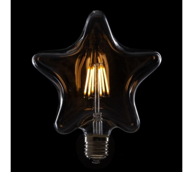 BOMBILLA LED  FILAMENTO VINTAGE STAR E27 6W 600Lm