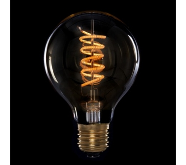 BOMBILLA LED  VINTAGE DIMABLE G80 GLOBO VORTICE E27 4W