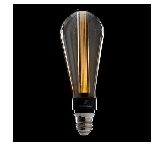 BOMBILLA ART DECO LED 3D ST64 5W E27 VIDRIO AMBAR