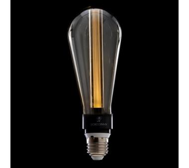 BOMBILLA ART DECO LED 3D ST64 5W E27 VIDRIO GRIS