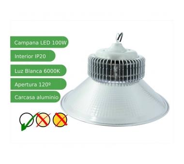Campana LEDs Industrial 100W Blanco Frío