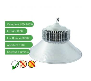 Campana LEDs Industrial 200W Blanco Frío