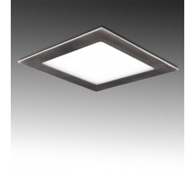 LEDS CUADRADA 170x170 mm 12W  NIQUEL SATINADO