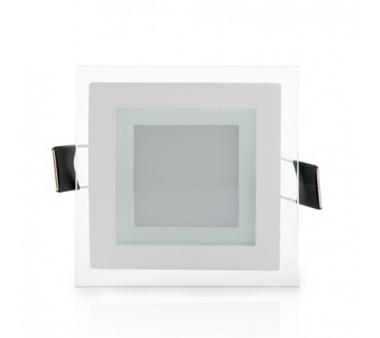 LEDS CUADRADO CON CRISTAL 95X95mm 6W