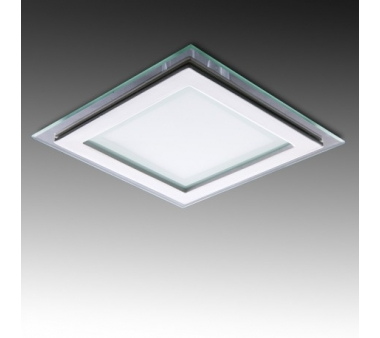 LEDS CUADRADO CON CRISTAL 160X160mm 12W