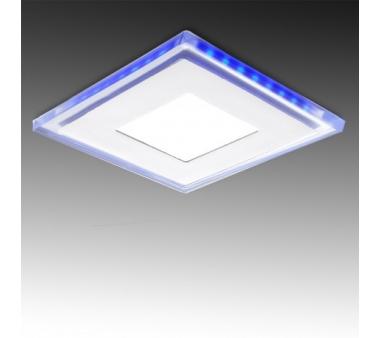 LEDS CUADRADO CON CRISTAL DUO (Blanco/Azul) 130X130mm 10W
