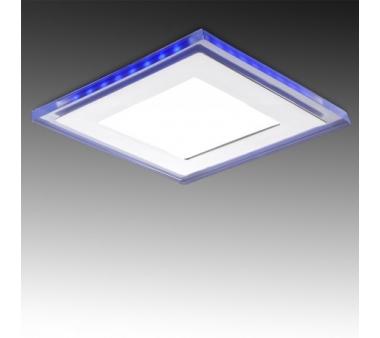 LEDS CUADRADO CON CRISTAL DUO (Blanco/Azul) 160X160mm 15W