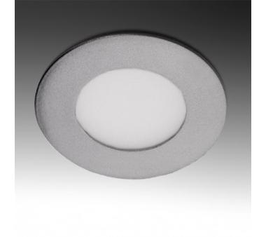 LEDS CIRCULAR MARCO PLATEADO 3W 90mm