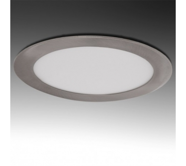 LEDS CIRCULAR 18W 225mm NIQUEL SATINADO