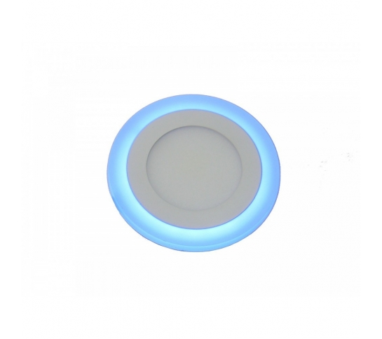DOWNLIGHT 2 COLORES BLANCO 6W 6000K Y AZUL 3W