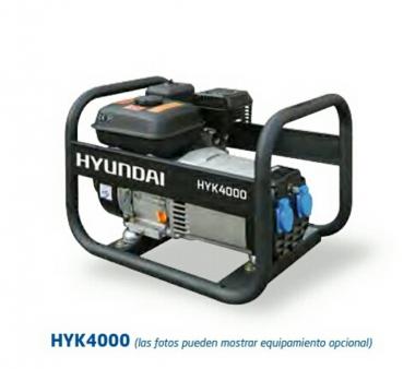 GENERADOR GASOLINA HYK4000 SERIE RENTAL