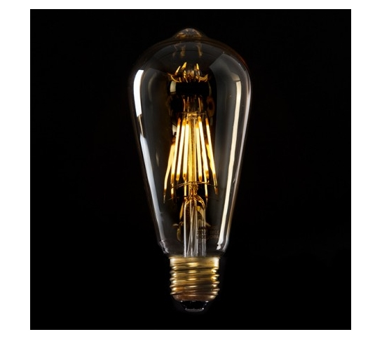 BOMBILLA VINTAGE LED ST64 EDISON 6W E27
