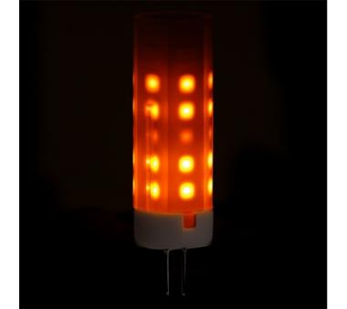 Bombilla de leds efecto llama G4 2W 12V