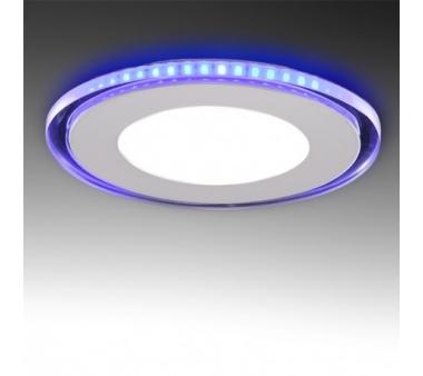LEDS CIRCULAR CON CRISTAL DUO (BLANCO/AZUL) 15W 160mm